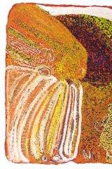 Nakarra Nakarra Tjukurpa (Seven Sisters Dreaming) 2003. Image courtesy of Eubena Nampitjin?s family and Michael Kershaw, The Australian Art Print Network, Darlinghurst.