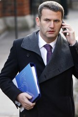 Mark Lewis arrives at the Leveson inquiry last year.