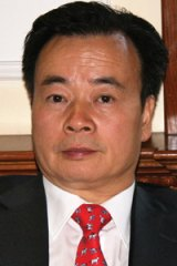 Dr Chau Chak Wing . . . urgent import of Chinese flags.