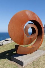 Sculptures by the Sea ... Bert Flugelman's artwork Ammonite, on display as part of the 2011 exhibition.