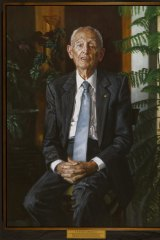 The portrait of Professor Ruthven Blackburn.