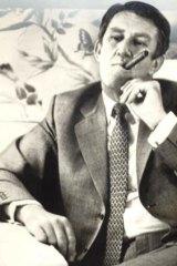 Political puffer: Malcolm Fraser.