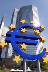 In the red ... Greece's debt is far greater than the resources of the European Central Bank.