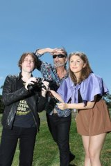 Looks good ... (from left) Craig Nicholls (the Vines), Steve Kilbey (the Church) and Brooke Addamo (Owl Eyes) are among the line-up's heavyweights.