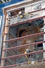 The demolishers move in at the Regent Theatre building.