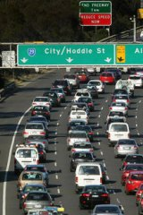 Stalled: It could be years until work on the new linking freeway begins.