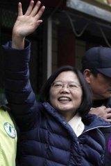 Opposition leader Tsai Ing-wen.