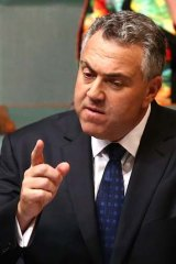 """This spending is part of an economic strategy to build a strong, prosperous economy"": Treasurer Joe Hockey."