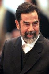Former Iraqi dictator Saddam Hussein.