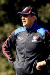"""""""I was asked recently at the NRL about changes I see in the game ...  the change I'm seeing now is the deliberate penalties that teams are giving away"""": Knights Coach Wayne Bennett."""