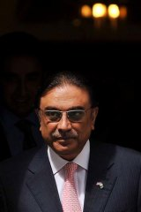 Discussions ... Pakistani President Asif Ali Zardari.
