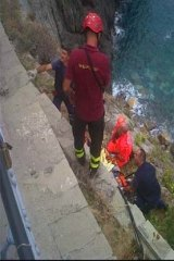 Rescuers at the scene.