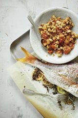 Roasted lemon and thyme snapper.