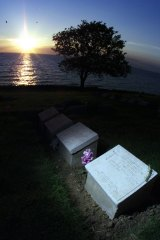 "The grave of John Simpson Kirkpatrick at Anzac Cove: ""Australians have adopted Kirkpatrick as part of the mythology of Gallipoli,"" says Councillor Ed Malcolm."