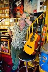 Bill Oddie in his music room.