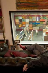 Hank Ebes overlooking his gallery.