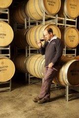 Smitten ... winemaker Charles Whish in the barrel room at Serafino, McLaren Vale.