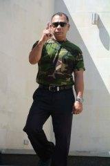 Laksar Bali regional captain for Badung, Ajik Barack.