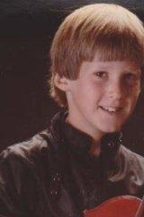 Lucas Barr, aged nine or 10.