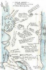 Treasure map … a World War II map of Marchinbar.