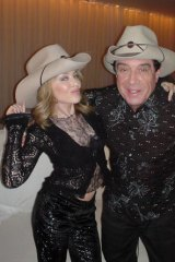 Minogue  with Ian ''Molly'' Meldrum.