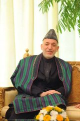 """""""The Afghans should stay in Afghanistan to build Afghanistan"""" ... President, Hamid Karzai."""