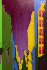 One of Merryn J. Trevethan's finance-inspired paintings.
