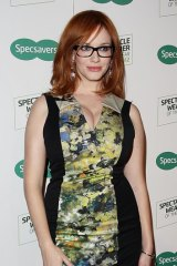 Curves: Christina Hendricks took umbrage at being called full-figured.