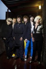 The band (from left), Chris Stein, Tommy Kessler, Clem Burke, Leigh Foxx, Matt Katz-Bohen and Deborah Harry are proud of their New York attitude.