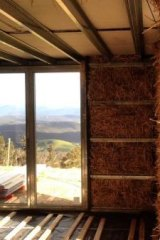 Packing: Straw bales that fill wall and ceiling cavities can deny a fire the oxygen it needs.