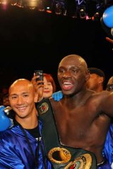 Five-time world champion Antonio Tarver after defeating three-time world champion Australian Danny Green.