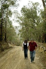 Chris Petreis and Alexandra Peters on the southern section of Coombs Road.