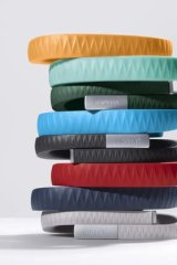 Strap it on: Jawbone's UP smart wristband.