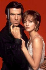 Pierce Brosnan and Isabella Scorupco in <i>GoldenEye</i>.