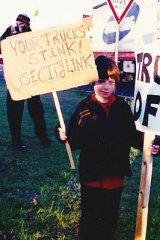 Noah in 2001, aged 7.
