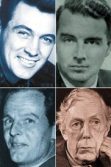 Labelled and filed away in secret documents . . . (clockwise from top left) Rock Hudson, Guy Burgess, Donald MacClean and Anthony Blunt.