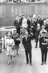 The Queen and Prince Philip during their visit to Australia in 1970.