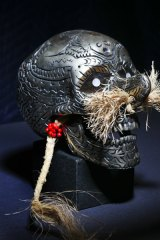 One of the skulls from the exhibition.