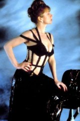 Helen Mirren wears a Gaultier costume in 1989's <i>The Cook, the Thief, His Wife and Her Lover</i>.