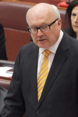 Meeting the Senator's storage needs: Costings are underway to give George Brandis his bookcase.
