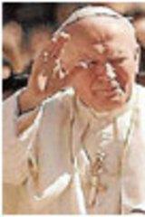 John Paul II, left, and Pius XII