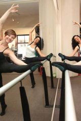 Graceful tone ... Emma Jory and Melita Khawly at Emergy Pilates Lounge.