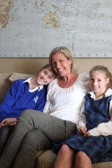 Gone public: Liz Foster with Grace, 12, and Ruby, 10.