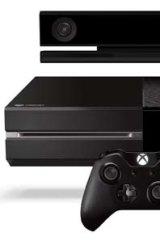 Microsoft's Xbox One with Kinect sensor.