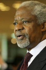 The UN envoy to Syria, Kofi Annan.