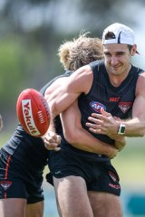Watson and Dyson Heppell get into some body work.