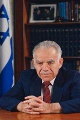 Hawk … two-time Israeli prime minister Yitzhak Shamir.