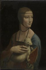 Leonardo da Vinci's <i>Lady with an Ermine</i>.