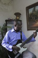 """""""Music is like oxygen"""" ... Baba Salah has helped many of his colleagues who have fled."""