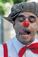 Pedro Tochas, one of the most original street clowns, will appear at the Melbourne Comedy Festival.